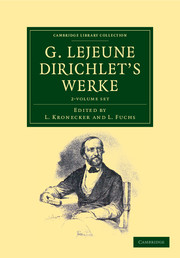 G. Lejeune Dirichlet's Werke