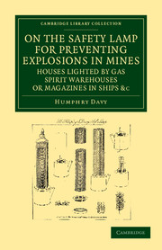 On the Safety Lamp for Preventing Explosions in Mines, Houses Lighted by Gas, Spirit Warehouses, or Magazines in Ships, etc.