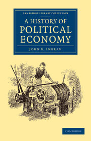 A History of Political Economy