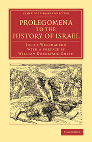 Prolegomena to the History of Israel