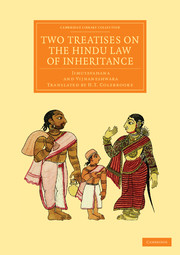 Two Treatises on the Hindu Law of Inheritance