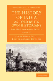 The History of India, as Told by its Own Historians