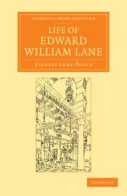 Life edward william lane   Middle East history   Cambridge ...