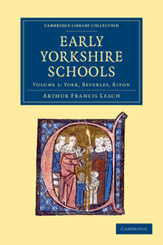 Early Yorkshire Schools