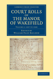 Court Rolls of the Manor of Wakefield