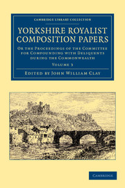 Yorkshire Royalist Composition Papers