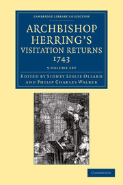 Archbishop Herring's Visitation Returns, 1743