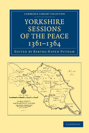 Yorkshire Sessions of the Peace, 1361–1364