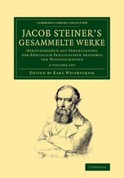 Jacob Steiner's Gesammelte Werke