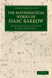 The Mathematical Works of Isaac Barrow