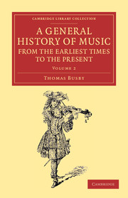 A General History of Music, from the Earliest Times to the Present