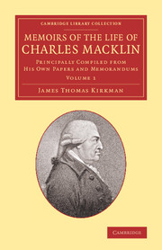 Memoirs of the Life of Charles Macklin, Esq.