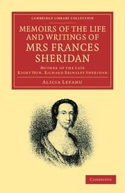 Memoirs of the Life and Writings of Mrs Frances Sheridan