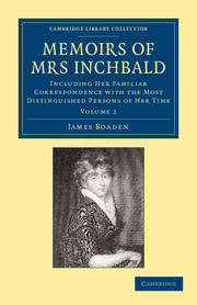 Memoirs of Mrs Inchbald