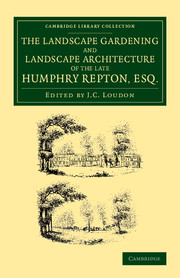 The Landscape Gardening and Landscape Architecture of the Late Humphry Repton, Esq.