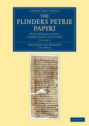 The Flinders Petrie Papyri