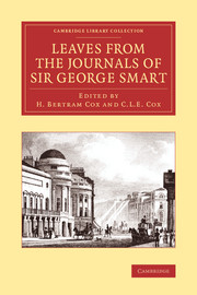 Leaves from the Journals of Sir George Smart