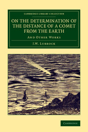 On the Determination of the Distance of a Comet from the Earth