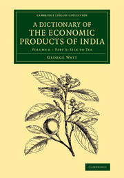 A Dictionary of the Economic Products of India