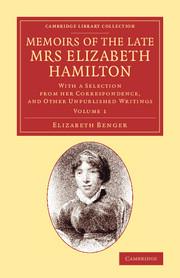 Memoirs of the Late Mrs Elizabeth Hamilton