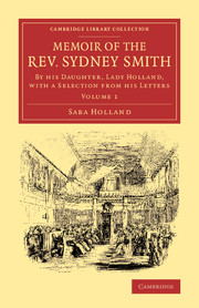 Memoir of the Rev. Sydney Smith