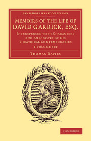 Memoirs of the Life of David Garrick, Esq.