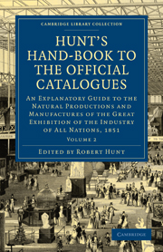 Hunt's Hand-Book to the Official Catalogues of the Great Exhibition