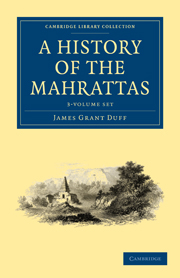 A History of the Mahrattas