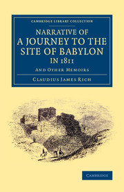 Narrative of a Journey to the Site of Babylon in 1811