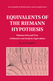 Equivalents of the Riemann Hypothesis