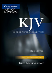 KJV Pocket Reference Bible, Black French Morocco Leather, Red-letter Text, KJ243:XR