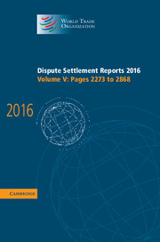 Dispute Settlement Reports 2016