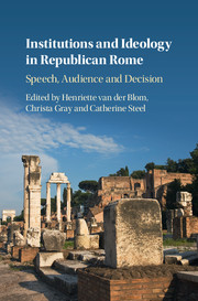 Institutions and Ideology in Republican Rome