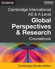 Cambridge International AS & A Level Global Perspectives & Research Coursebook Cambridge Elevate Edition (2 Years)