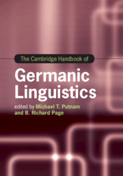 The Cambridge Handbook of Germanic Linguistics