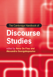 The Cambridge Handbook of Discourse Studies
