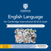 Cambridge International AS and A Level English Language Cambridge Elevate Teacher's Resource Access Card