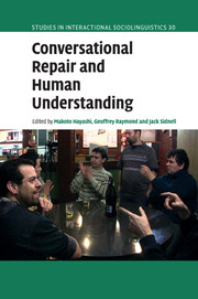 Conversational Repair and Human Understanding