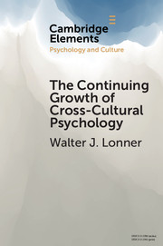 The Continuing Growth of Cross-Cultural Psychology