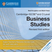 Cambridge IGCSE® and O Level Business Studies Revised Cambridge Elevate Teacher's Resource Access Card