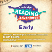 Cambridge Reading Adventures Pink A to Blue Bands Early Cambridge Elevate Digital Classroom Access Card (1 Year)