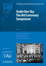 Under One Sky: The IAU Centenary Symposium (IAU S349)
