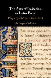 The Arts of Imitation in Latin Prose