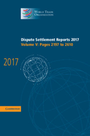 World Trade Organization Dispute Settlement Reports