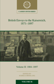 British Envoys to the Kaiserreich 1871–1897