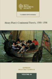 Henry Piers's Continental Travels, 1595–1598