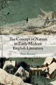 The Concept of Nature in Early Modern English Literature