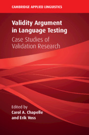Validity Argument in Language Testing