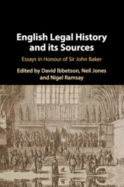 English Legal History and its Sources
