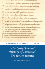 The Early Textual History of Lucretius' De rerum natura